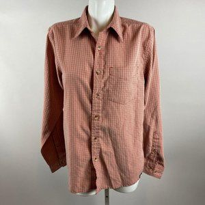 North Face Mens Modal Blend Red Plaid Button Down